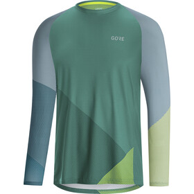 GORE WEAR C5 Trail Maillot Manga Larga Hombre, nordic blue/citrus green
